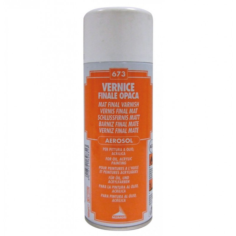 Vernice Finale Opaca Spray Per Pittura Ad Olio 400ml