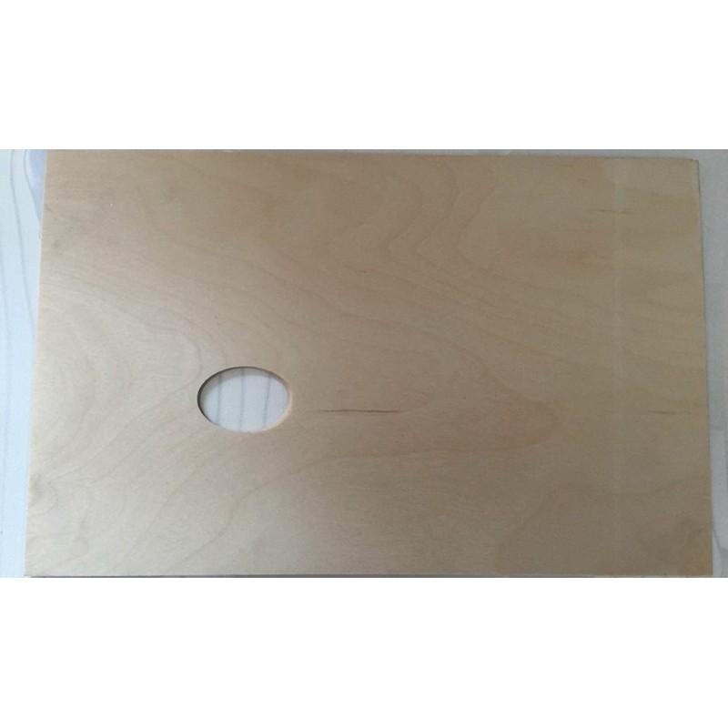 Tavolozza quadrata in legno