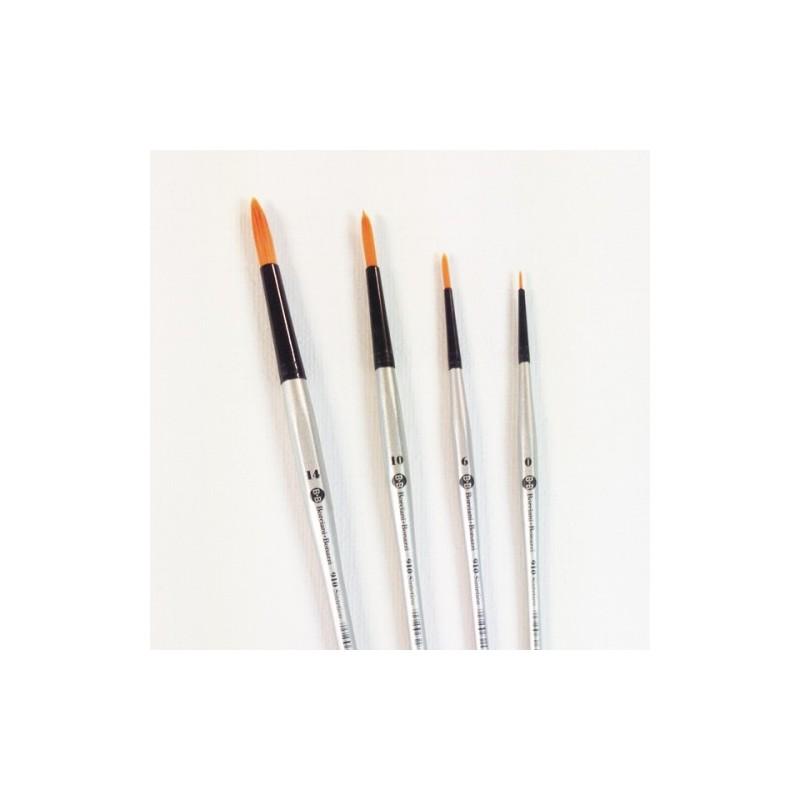 Numero 0 pennello sintetico a punta tonda manico lungo